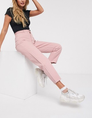 Monki Taiki high waist mom jeans with organic cotton in pink
