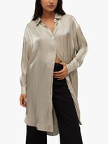 Thumbnail for your product : MANGO Bagno Longline Shirt, Gold