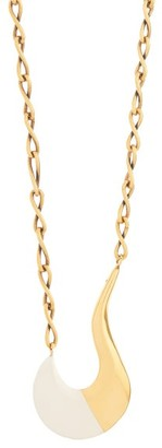 Marni Tipped-pendant Chain Necklace - Womens - White Gold