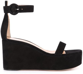 Gianvito Rossi Platform Wedge Sandals
