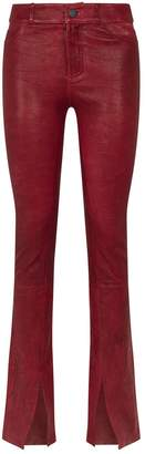 Paige Leather Constance Skinny Trousers