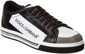 Dolce & Gabbana Roma Coated Canvas & Leather Sneaker