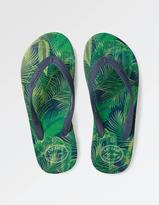 Fat Face Palm Print Wrap Flip Flops