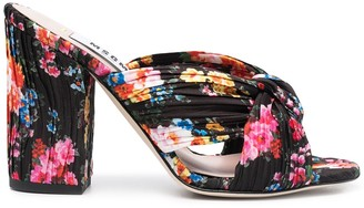 MSGM 10mm Floral Print Mule Sandals