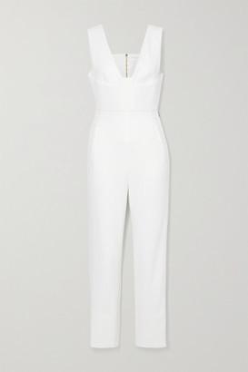 Roland Mouret Lowle Crepe Jumpsuit - White