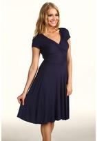 BCBGMAXAZRIA Ritz Twisted Front Dress (Dark Ink) - Apparel