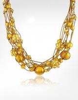 Antica Murrina Cancun - Murano Glass Beads & Flowers Multi-strand Necklace