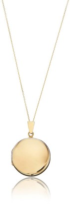 Lily & Roo Large Solid Gold Round Locket Necklace