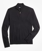 Brooks Brothers BrooksTech Merino Wool Half-Zip Sweater