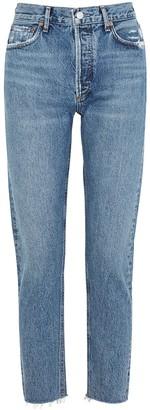 AGOLDE Jamie blue tapered slim-leg jeans