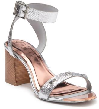 Ted Baker Biah Leather Studded Block Heel Sandal