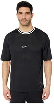 Nike Dry Top Short Sleeve Hoopxfly (Black/University Red/White/White) Men's Clothing