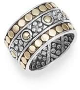 John Hardy Jaisalmer Dot 18K Yellow Gold & Sterling Silver Ring