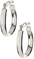 Candela 14K White Gold Polished Small Hoop Earrings in Gift Box
