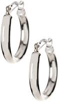Candela 14K White Gold Polished Small Hoop Earrings
