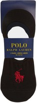 Polo Ralph Lauren Black Low-cut Cotton Blend Socks - Set Of Three
