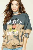 Forever 21 FOREVER 21+ Dip-Dye Mickey Sweatshirt