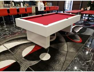 Pool' The Victoria 7' Pool Table McCorkle Designs Felt Color: Red