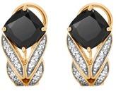 John Hardy Diamond onyx 18k yellow gold weave effect earrings