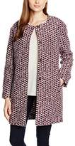Esprit Women's 086EE1G014 Coat, Multicoloured (BORDEAUX RED)