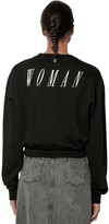 Off-White Off White Woman Print Cotton Sweatshirt