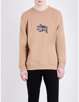 Stussy Embroidered-logo Cotton-blend Jumper