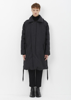 Lanvin anthracite asymmetric down parka