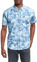 RVCA Men's Acid Rain Trim Fit Denim Shirt