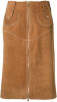 Derek Lam zipped pencil skirt - women - Calf Leather - 38