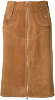 Derek Lam zipped pencil skirt - women - Calf Leather - 42