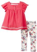 Jessica Simpson Blouse & Printed Leggings (Baby Girls)