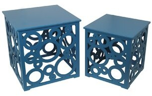 Longshore Tides Scruggs Solid Wood Block Nesting Tables