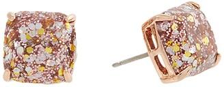 Kate Spade Mini Small Square Studs Earrings (Black) Earring