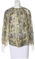Isabel Marant Silk Long Sleeve Blouse