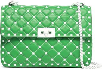 Valentino Rockstud Spike Quilted Leather Shoulder Bag
