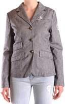 La Martina Women's Grey Cotton Blazer.