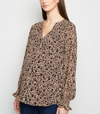 New Look Maternity Animal Print Long Sleeve Blouse