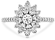 Paige Hayley for Hearts on Fire 18K White Gold Behati Say It Your Way Engagement Ring with Diamonds & Pink Sapphire