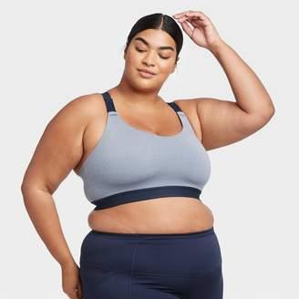 Women's Plus Size Medium Support Wide Strap Bra - All in MotionTM Navy Heather