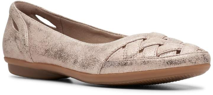 Clarks Collection By Gracelin Maze Crisscross Suede Flats