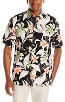 Cubavera Men's Short Sleeve Allover Tropical Print Woven Shirt