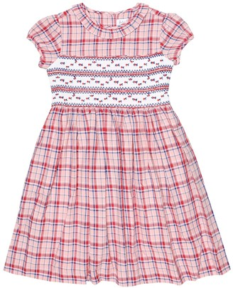 Rachel Riley Checked smocked cotton dress