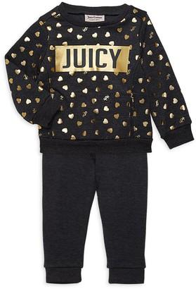 Juicy Couture Baby Girl's 2-Piece Sweatshirt & Pants Set