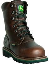"""John Deere Men's Boots 8"""" Steel Toe Lace Up Internal Met Guard Boot"""