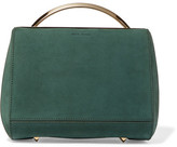 Eddie Borgo Dean Mini Doctor Leather-trimmed Nubuck Shoulder Bag - Forest green