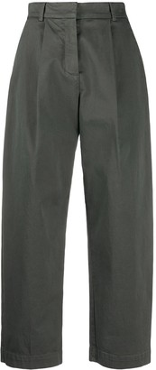 YMC Pleated Wide-Leg Trousers