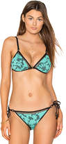 Nanette Lepore Vixen Bikini Top in Mint. - size L (also in M,S,XS)