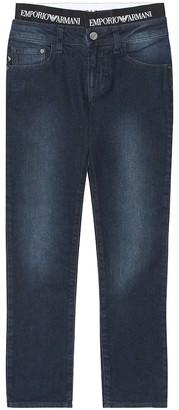 Emporio Armani Kids Stretch cotton-blend jeans