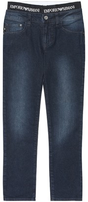 Emporio Armani Kids Stretch cotton-blend jeans