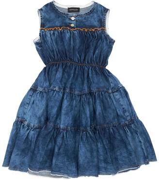 MonnaLisa Stretch Chambray Sleeveless Dress